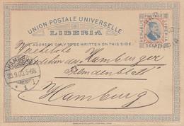 Liberia: 1900:  Post Card Cape Palmas, Harrare To Hamburg - Liberia