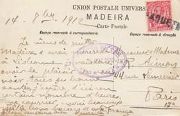 Madeira 1912: Post Card Corca De Bois, Posted On High Seas Paquebot To Paris - Madère