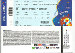 WOMENS WORLD CUP FOOTBALL.2019. GERMANY- SOUTH-AFRICA. Stade De La Mosson.Montpellier 17 June 2019. - Apparel, Souvenirs & Other