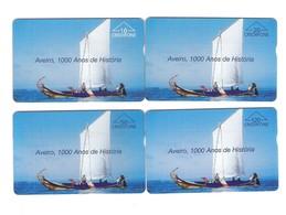 """SERIE OF 4 OPTICO CARDS PORTUGAL """"AVEIRO 1000 ANOS DE HISTÓRIA"""" EX: 8.000 - NEW/NOT USED - Portugal"""