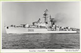 ESCORTEUR D'ESCADRE   FORBIN   / Photo Marius Bar, Toulon / Marine - Bateaux - Guerre - Militaire - Warships