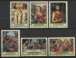 Espagne 1979   Série De Juanes  Y&T N° 2183-2188  Oblitérés - 1971-80 Oblitérés