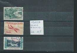 FRANCE. Petit Lot Poste Aérienne Oblitéré. Cote: 37 €, Départ 1 €. - Collections (without Album)