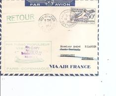 """France ( Premier Vol Par Turbopropulseur """"VISCOUNT"""" De 1954 De Paris Vers Copenhague à Voir) - Briefe U. Dokumente"""