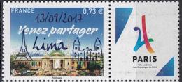 """France 1 Val. Surchargé """"Lima"""" ** - Summer 2024: Paris"""
