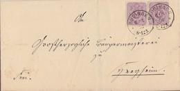 DR Brief Mef Minr.2x 32 K1 Büdingen 6.5.76 - Germany