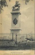 Environs De Genappe : Monument Du Duc De Brunswick A Quatre Bras     ( Ecrit 1911 Avec Timbre ) - Genappe