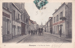 91. Etampes. La Rue Du Perray. Tbe Colorisée - Etampes