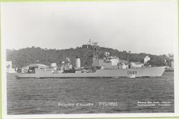ESCORTEUR D'ESCADRE   D'ESTREES   / Photo Marius Bar, Toulon / Marine - Bateaux - Guerre - Militaire - Guerre