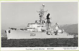 Escorteur Lance-Missiles   BOUVET   / Photo Marius Bar, Toulon / Marine - Bateaux - Guerre - Militaire - Guerre