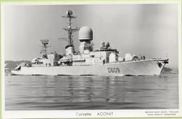 Corvette   ACONIT   / Photo Marius Bar, Toulon / Marine - Bateaux - Guerre - Militaire - Guerra
