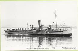 GUÊPE  Mouilleur De Mînes  1928   / Photo Marius Bar, Toulon / Marine - Bateaux - Guerre - Militaire - Guerre