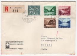 Svizzera 1956 Unif. 576/80 Su Raccomandata Per Milano VF - Covers & Documents