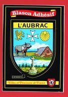 34 Hérault Blason Adhésif  L'AUBRAC Autocollant - Autres Communes