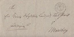 Preussen Brief K2 Arnsberg 16.4. Gel. Nach Marsberg Mit Inhalt 1841 - Preussen