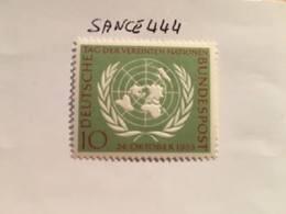 Germany 10 Years U.N.O. 1955 Mnh #ab - [7] Federal Republic