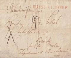 Preussen Brief Roter L1 Düsseldorf Gel. Ca. 1813 - Preussen