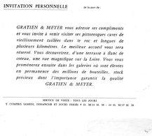 Carton D'invitation Personnelle De La Par De Gratien & Meyer - étiquette Saumur Soleil Méthode Champagne - Champagne