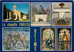51 - Reims - La Chapelle Foujita - Multivues - Voir Scans Recto-Verso - Reims