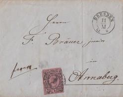 Sachsen Brief EF Minr.9 K2 Dresden 11.11.61 - Saxe