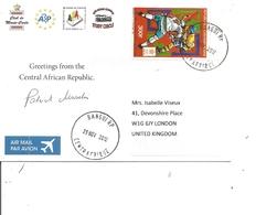 Centrafricaine ( CP De 2012 De Bangui Vers La Grande-Bretagne à Voir) - Central African Republic