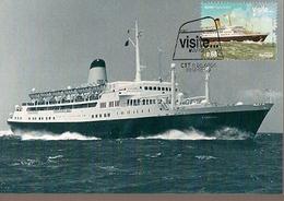 Portugal & Maxi Card, CPTE Europe, Visit Azores, Funchal Ship, Ponta Delgada 2012 (6867) - Europa-CEPT