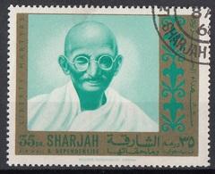 Sharjah 1968 Mi. 487A Mohandas Karamchand (Mahatma) Gandhi (1869-1948) Nuovo CTO - Mahatma Gandhi