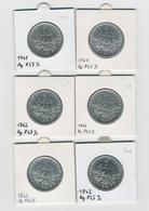 Lot 6 Pièces - Argent 5 Francs - Seumeuse 1960-1963 - France