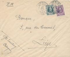 294/29 - Enveloppe TP Houyoux POSTES MILITAIRES 1A En 1925 Vers LIEGE - Expédiée De COLOGNE KOLN - Military Post