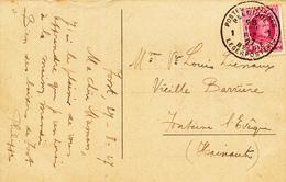 297/29 - Carte-Vue AACHEN TP Houyoux POSTES MILITAIRES 1 En 1927 Vers FONTAINE L' EVEQUE - Postmark Collection