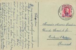 299/29 - Carte-Vue SAARBRUCKEN TP Houyoux POSTES MILITAIRES 1 En 1929 Vers FONTAINE L' EVEQUE - Postmark Collection