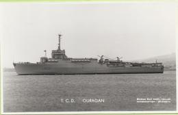 T.C.D.   OURAGAN   / Photo Marius Bar, Toulon / Marine - Bateaux - Guerre - Militaire - Warships