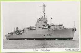 T.C.D.   OURAGAN   / Photo Marius Bar, Toulon / Marine - Bateaux - Guerre - Militaire - Guerra