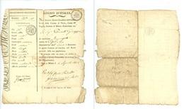 NAPOLEONE-REGNO D'ITALIA-DIPARTIMENTO DELL' OLONA-CARTA D'IDENTITA' 1812 (Z/03) - Cachets Généralité