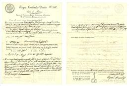 LOMBARDO-VENETO ISTANZA DI MANCATO PAGAMENTO LETTERA DI CAMBIO 1833 (Z04) - Lettres De Change