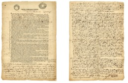 CARTA BOLLATA-LOMBARDO VENETO-CONTRATTO LOCAZIONE IN MILANO 1845 (Z/05) - Vieux Papiers