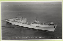 BATIMENT LOGISTIQUE   RHIN   / Photo Marius Bar, Toulon / Marine - Bateaux - Guerre - Militaire - Warships