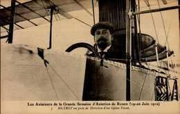 LES AVIATEURS GRANDE SEMAINE AVIATION DE ROUEN...J.METROT....CPA - Aviateurs