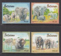 2016 Botswana Elephants Complete Set Of 4   MNH - Botswana (1966-...)