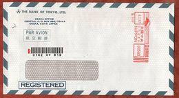 Luftpost, Einschreiben Reco, Bank Of Tokyo, Absenderfreistempel Osaka 1987 (75751) - 1926-89 Emperor Hirohito (Showa Era)
