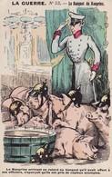 CPA Caricature Satirique Guerre 14 Banquet Du Konprinz Guillaume De Prusse Cochon Porc Pig Illustrateur  (2 Scans) - Patrióticos