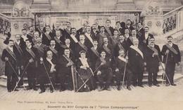 37 TOURS. CONGRES UNION COMPAGNONNIQUE. COMPAGNONS DU DEVOIR BOURRELIERS HARNACHEURS. SEPTEMBRE 1909 - Tours