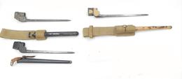 """Lot De Trois Baïonettes """"Spike"""" Pour Fusil Enfield N°4 - Knives/Swords"""