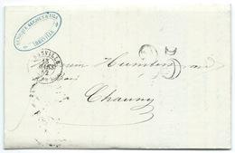 MP ABBEVILLE SOMME / TAXE 25 / 1852 FACTURE ENTETE SCIERIE HENOCQUE GARDIEN - Storia Postale
