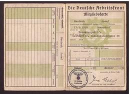 """Deutsches Reich """"Deutsche Arbeitsfront Mitgliedskarten"""" - Documents"""