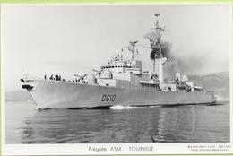 FREGATE  ASM   TOURVILLE   / Photo Marius Bar, Toulon / Marine - Bateaux - Guerre - Militaire - Warships