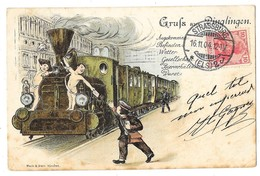 DINGLINGEN (Allemagne) Carte Illustrée Gruss Train - Lahr