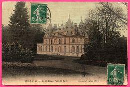 Cp Toilée - Spoir - Le Château - Façade Sud - Edit. Buraliste GOUSSARD - 1912 - France