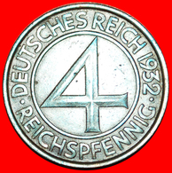 + RARE: GERMANY ★ 4 PFENNIG 1932E! LOW START ★ NO RESERVE! - [ 3] 1918-1933 : Republique De Weimar