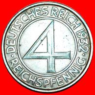 + RARE: GERMANY ★ 4 PFENNIG 1932E! LOW START ★ NO RESERVE! - [ 3] 1918-1933 : Weimar Republic